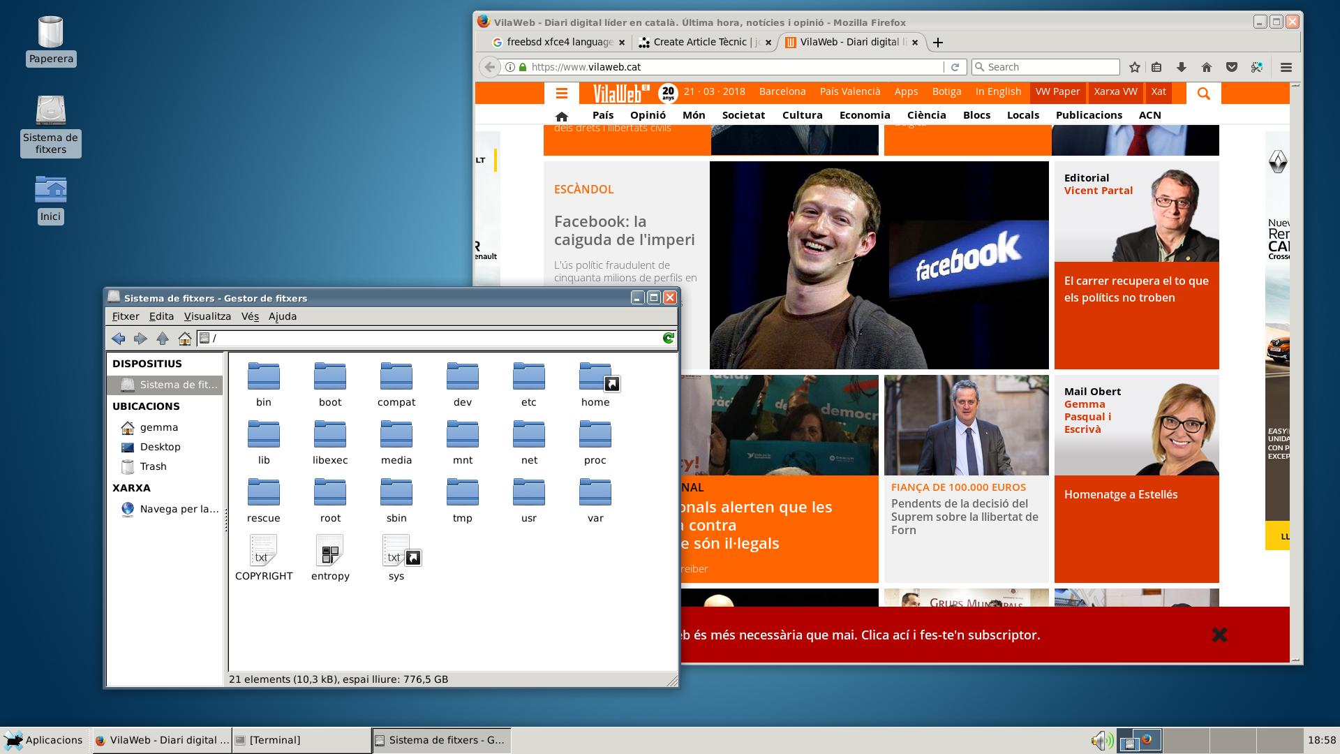 Xfce4 FreeBSD catalan