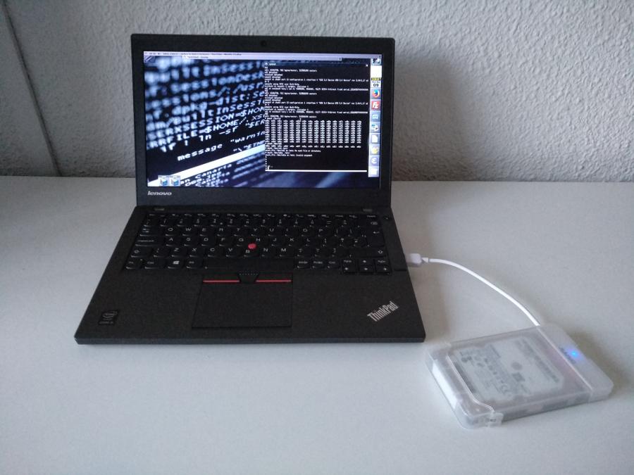 Formatejant un disc dur extern de 160Gb en FAT32 a OpenBSD