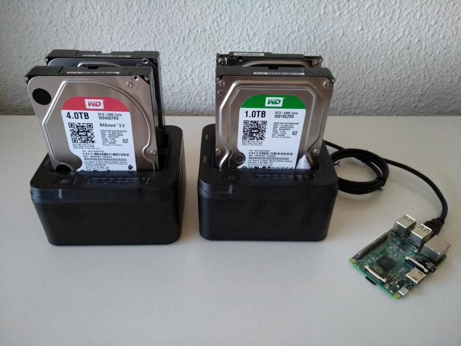 El meu servidor passa a tenir dos discs de 4 TB clonats