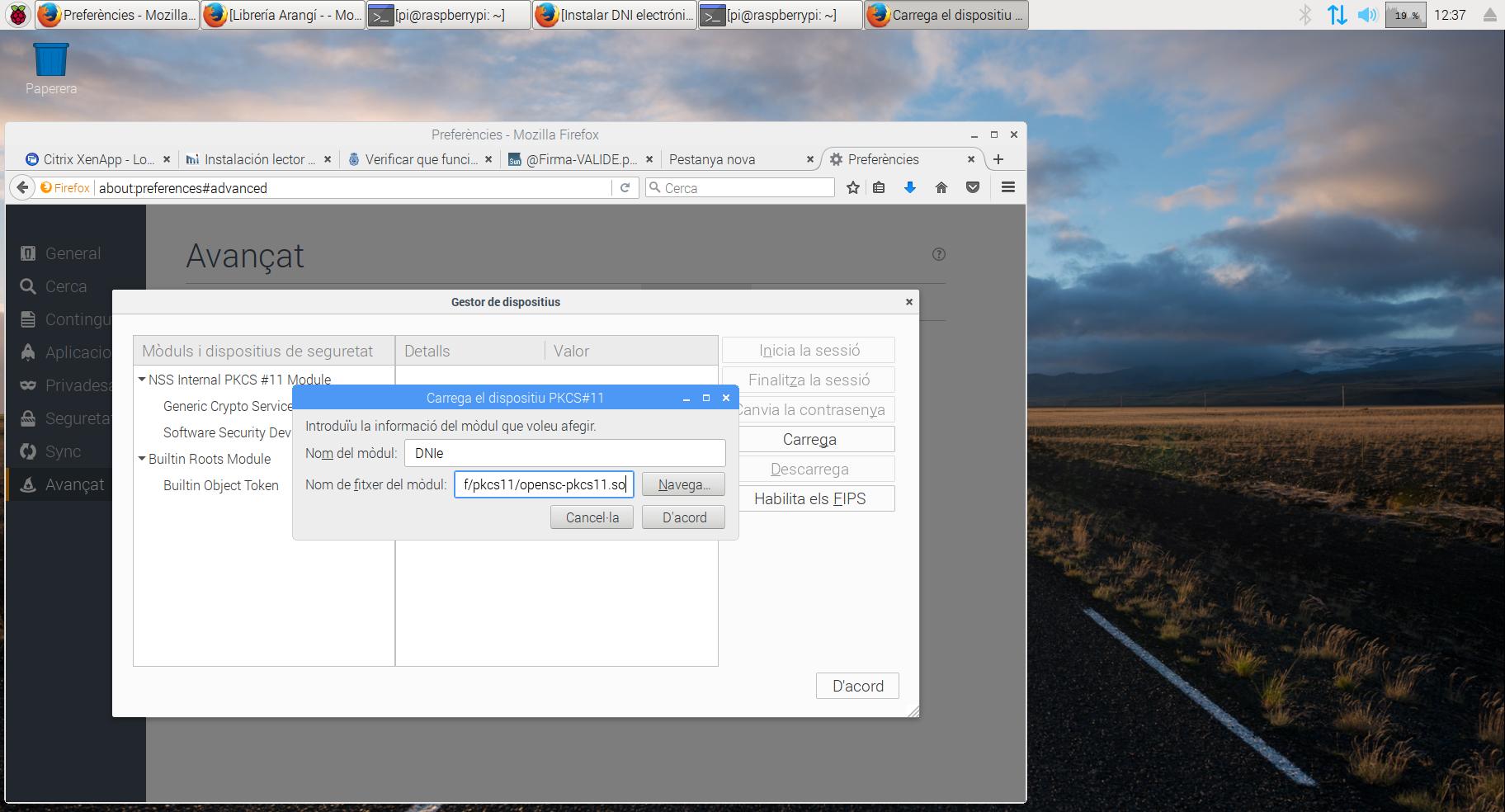 Configuració del DNI Electrònic amb una Raspberry Pi