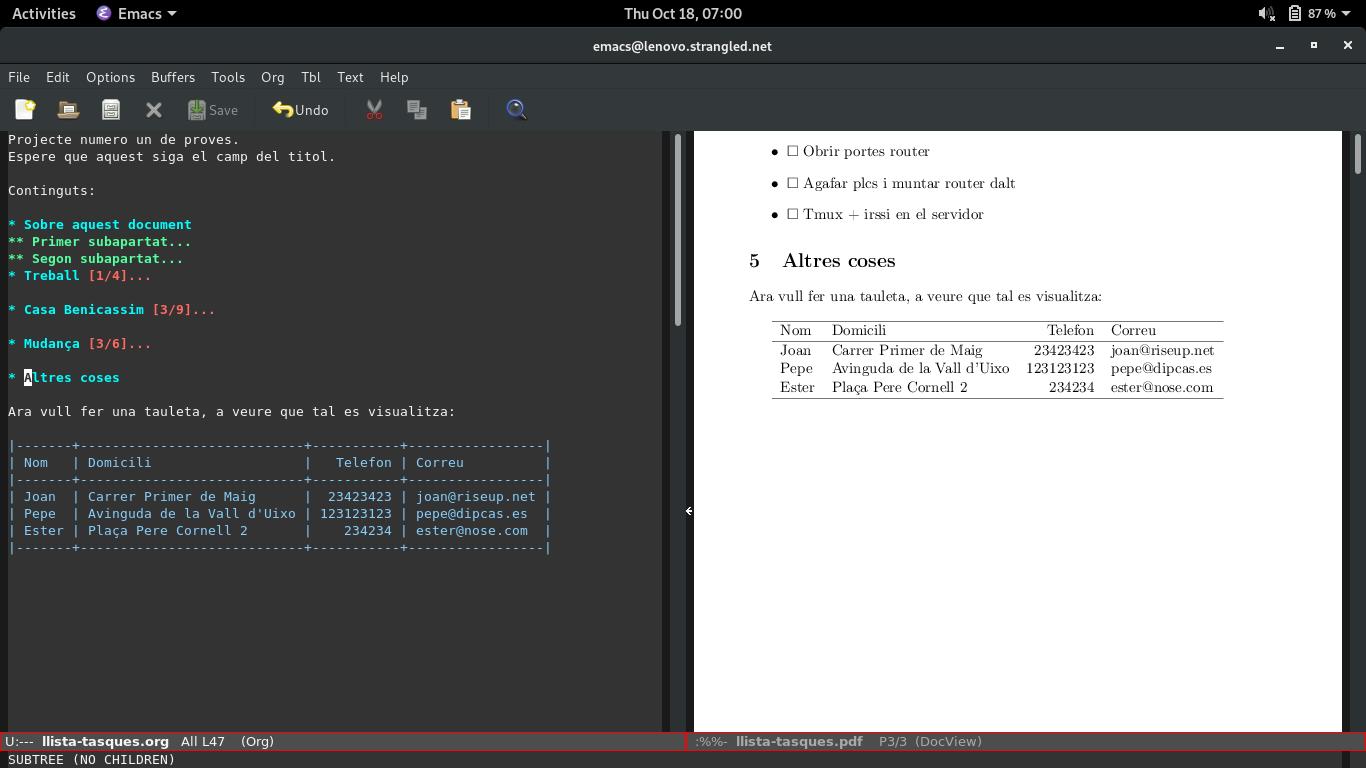 Exportant fitxers .tex des de l'org mode a OpenBSD 6.3