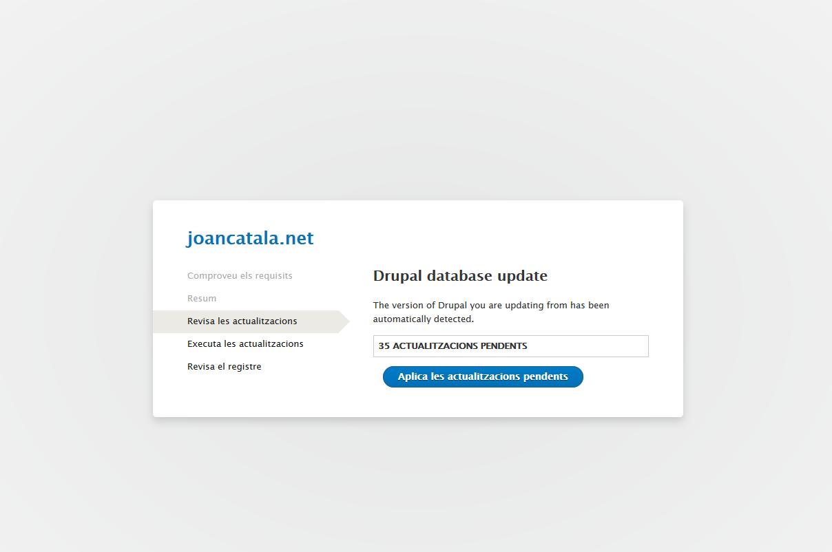 Fent millores vàries, nou domini i actualitzacions al meu Drupal