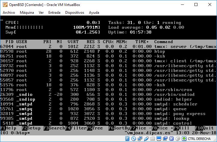 Instal·lant OpenBSD 6.4 com a màquina virtual d'Oracle VM Virtualbox