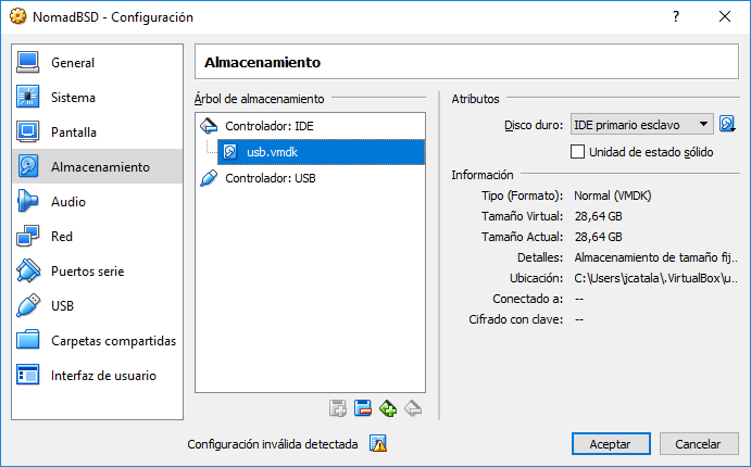 Màquina virtual de VirtualBox que arranca d'un dispositiu live USB