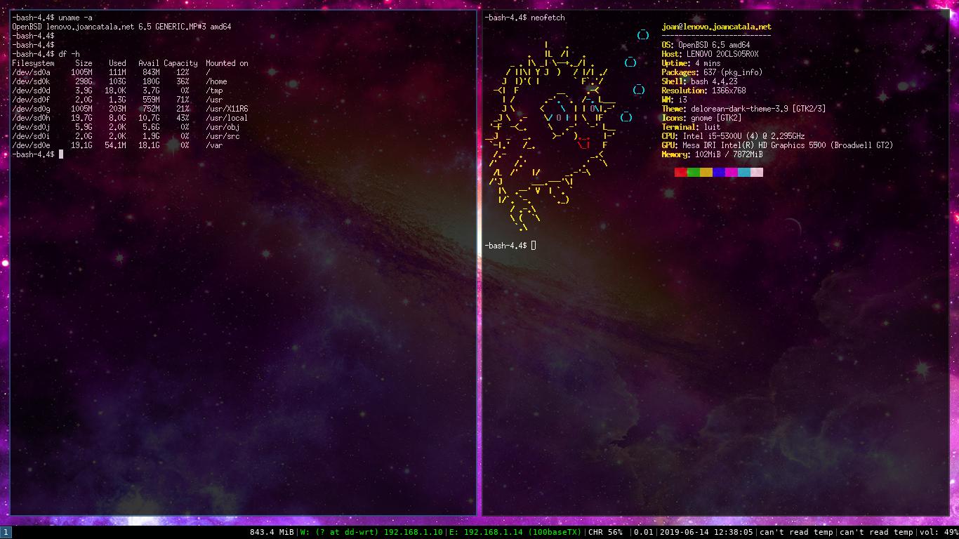 Migrant OpenBSD 6.4 a la nova versió 6.5