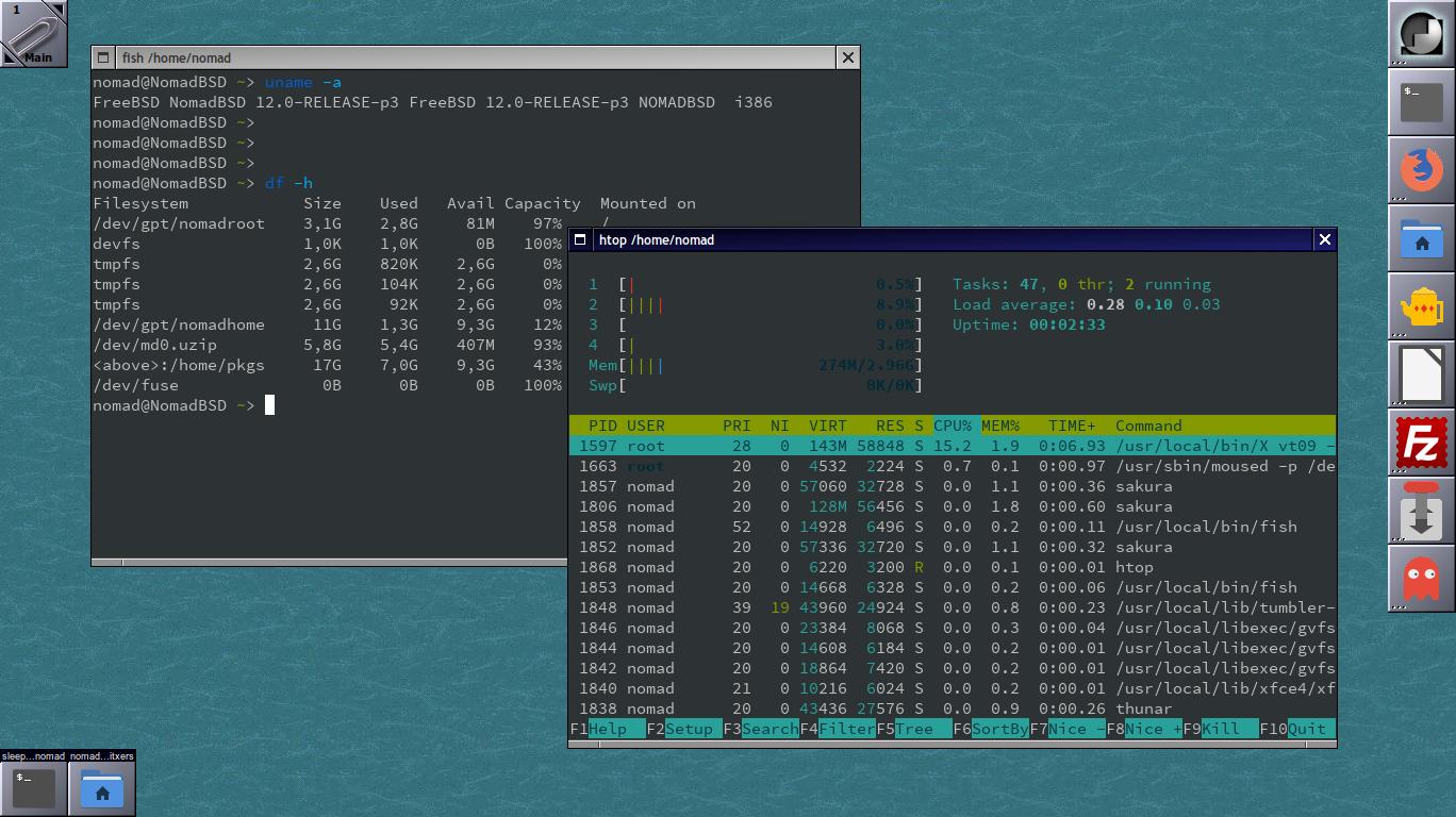 Canviar l'escriptori OpenBox a Window Maker a NomadBSD