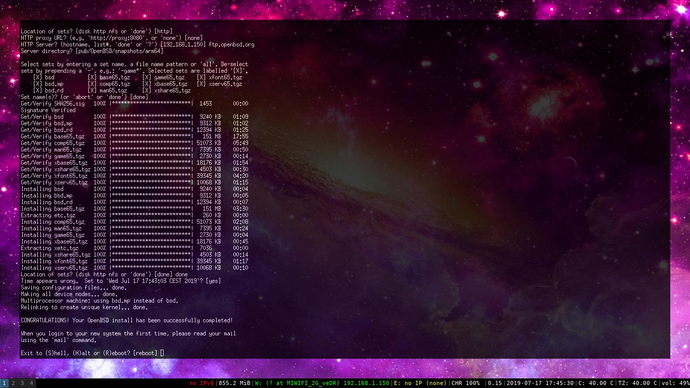 Instal·lant OpenBSD 6.5 arm64 a la Raspberry Pi 3 B
