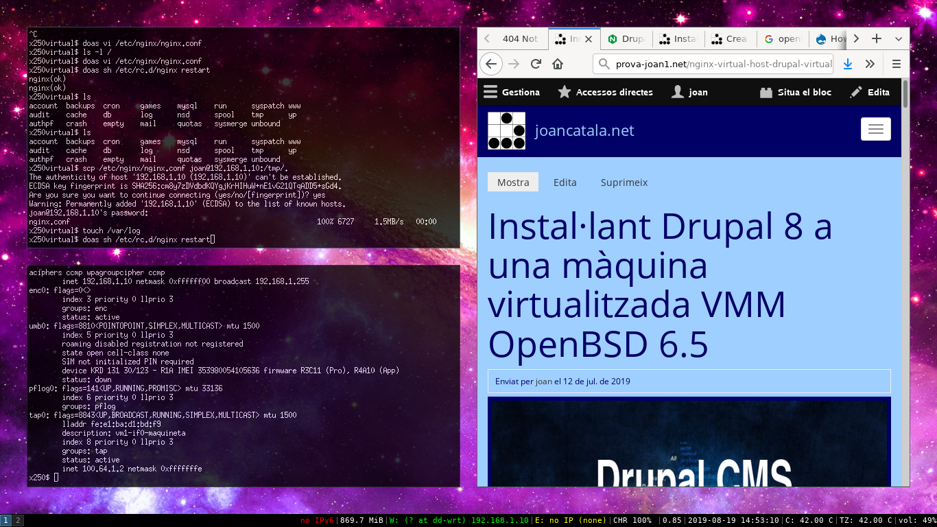 Configurant les 'Clean urls' de Drupal 8 amb Nginx a OpenBSD