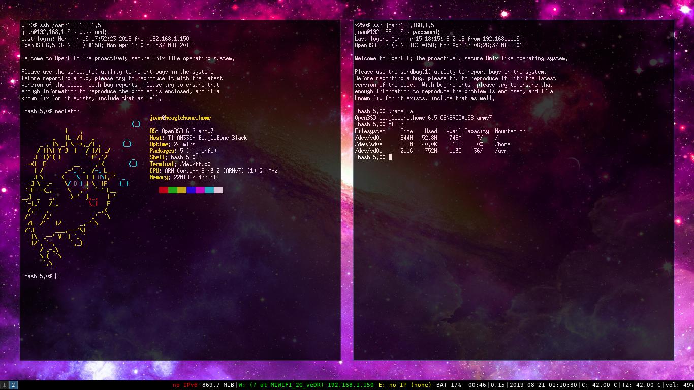 Instal·lant OpenBSD/armv7 6.5 a la BeagleBone Black