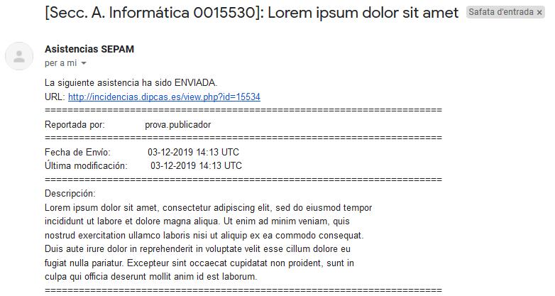 Modificant les notificacions per correu electrònic de Mantis Bug Tracker