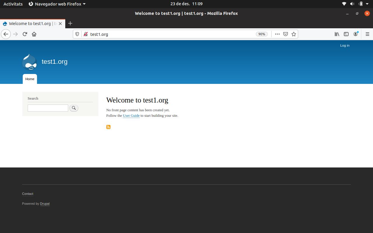 Configurant Ubuntu 16.10 i Apache2 com a servidor web per a Drupal