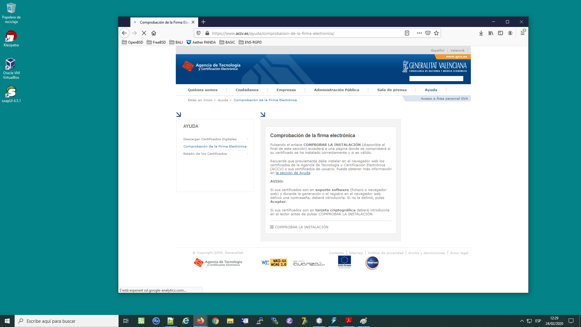 Instal·lant la tarjeta criptogràfica de l'ACCV al navegador Mozilla Firefox a Windows