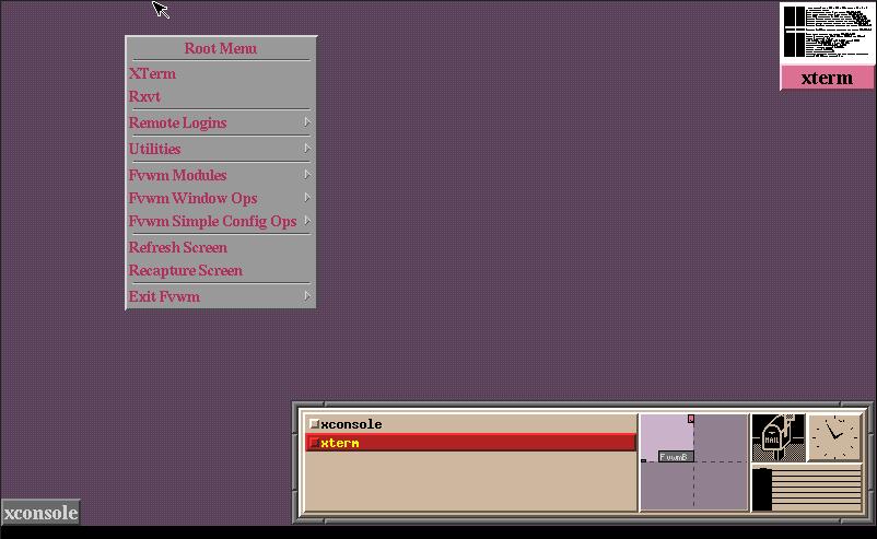 Fvwm2 a OpenBSD 6.6