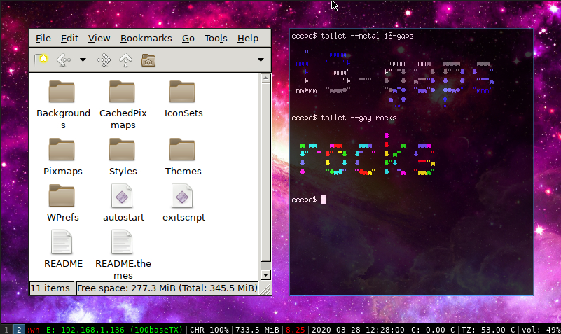 i3 gaps a OpenBSD 6.6