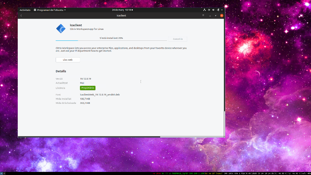 Instal·lant CITRIX Workspace APP a Ubuntu 19.04 i 19.10