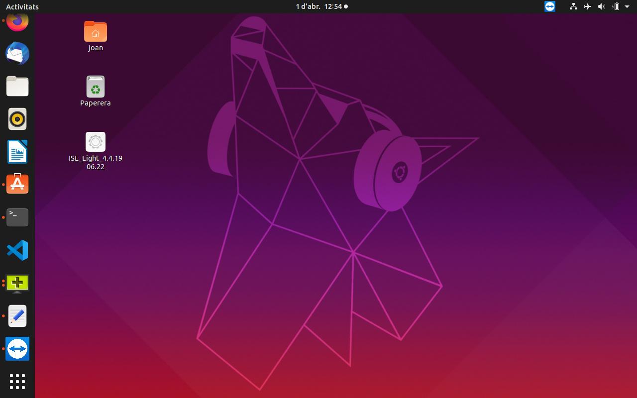 Gestionant remotament un smartphone Android amb ISL Light des d'Ubuntu 19.10