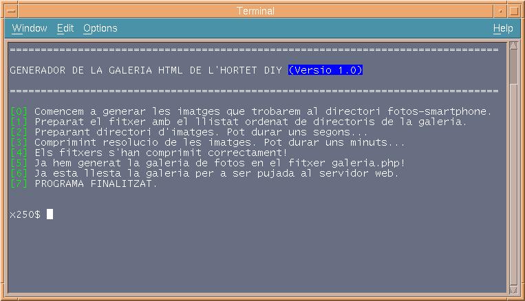 Desenvolupant amb Python un generador de galeries d'imatges estàtiques HTML5 per al meu hortet