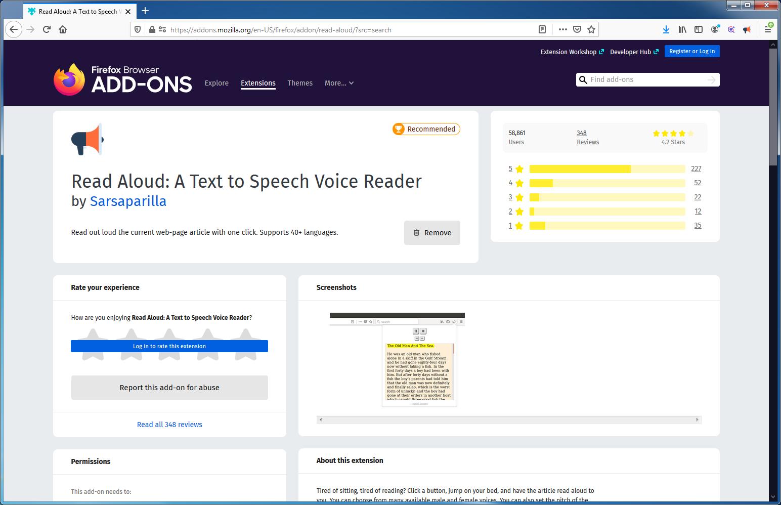 Consultant pàgines web amb veu computeritzada mitjançant Read Aloud