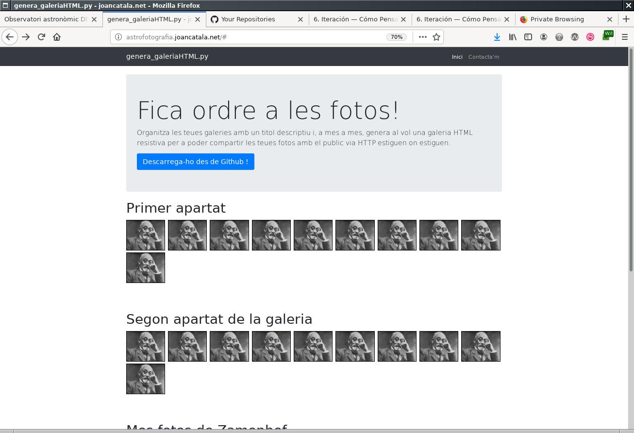 galeria HTML 9 columnes