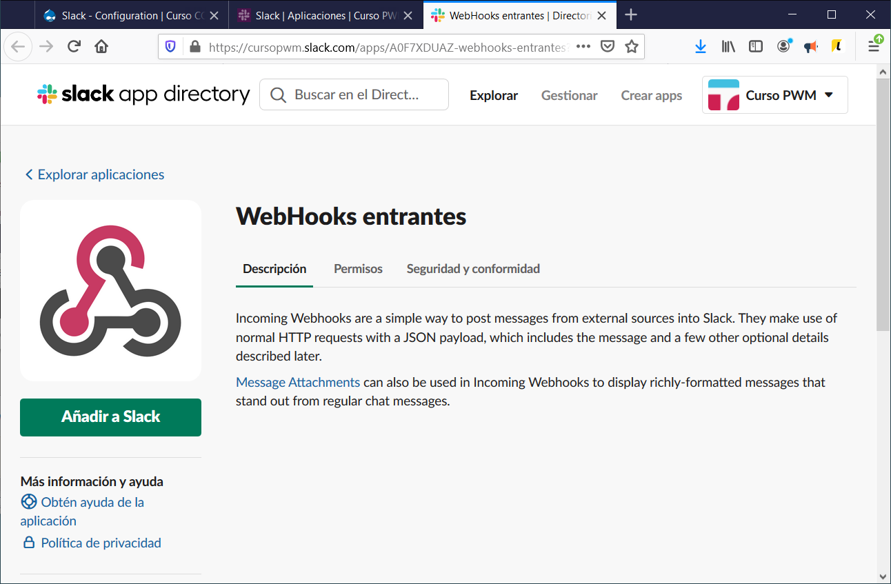 Integrant Drupal i Slack per a estar notificats d'events i canvis a la web