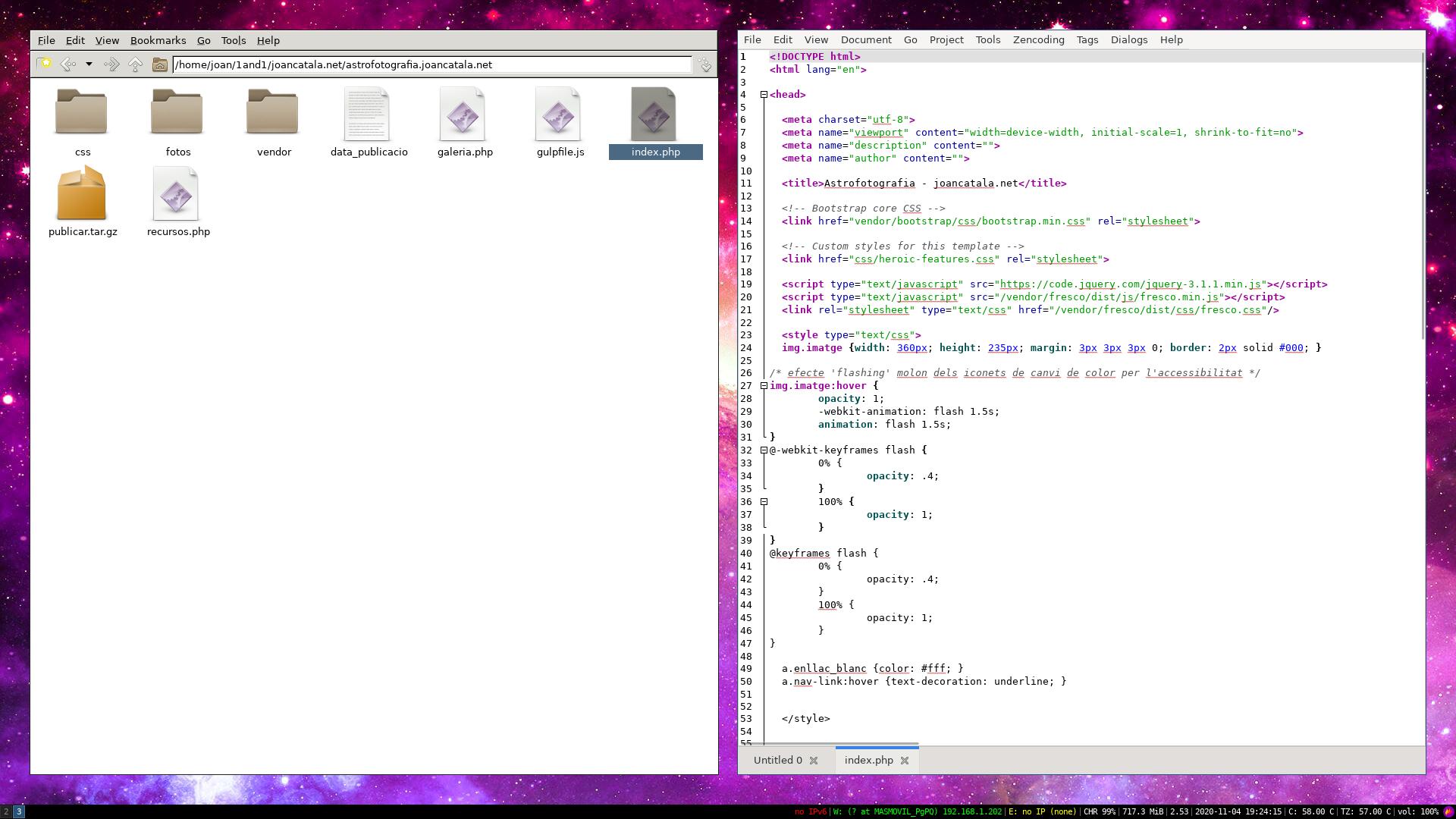 Treballant amb projectes allotjats a 1and1 com si foren fitxers locals a OpenBSD