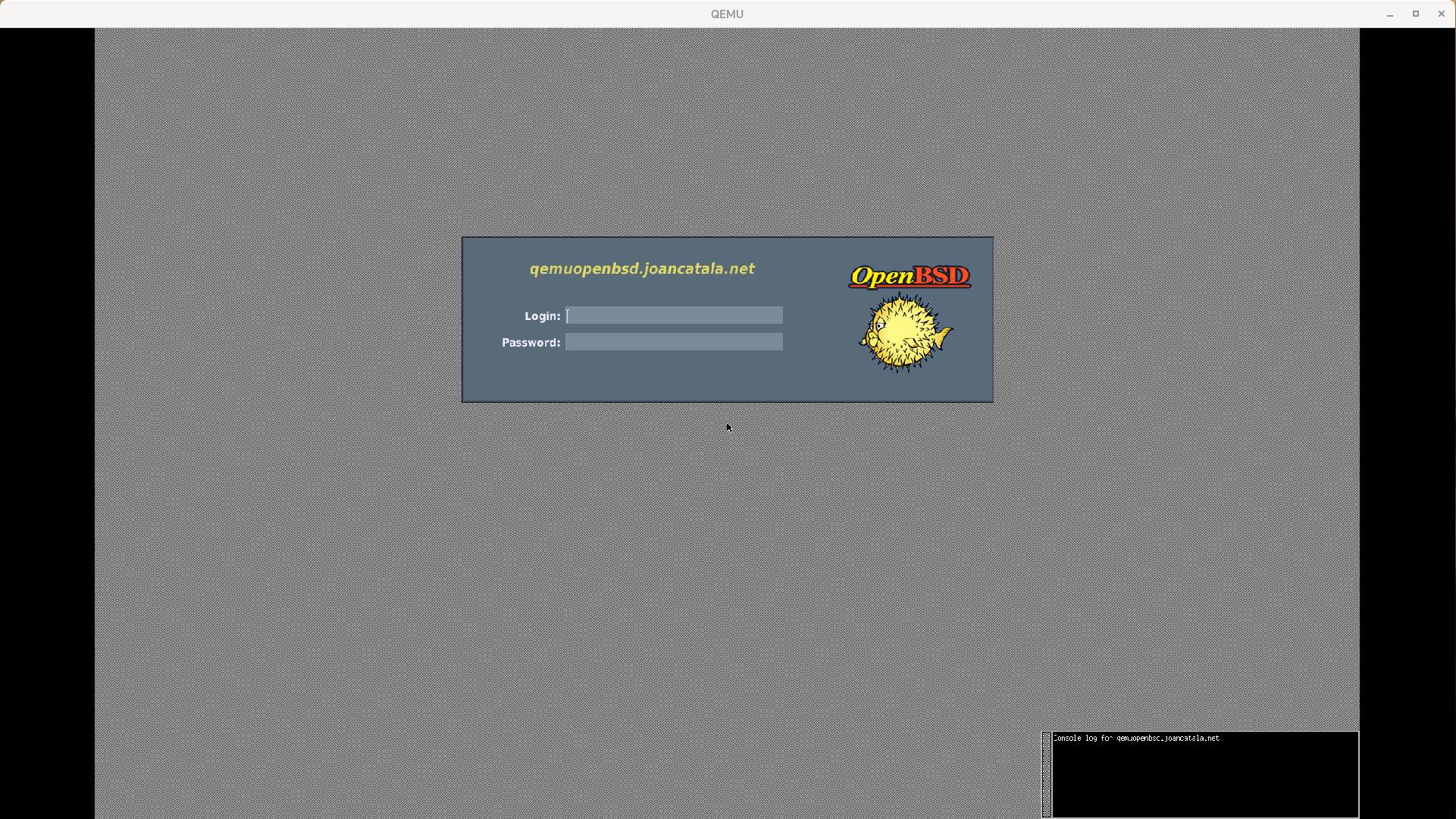 Virtualització d'OpenBSD 6.9 amb qemu